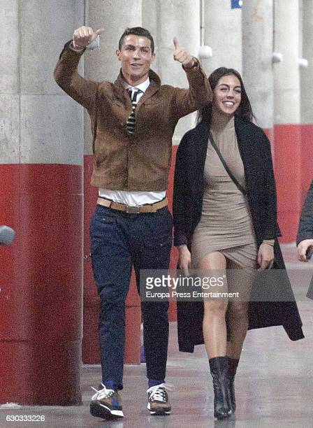 Cristiano Ronaldo and his girlfriend Georgina Rodriguez attending Alejandro Sanz's concert on December 5 2016 in Madrid Spain