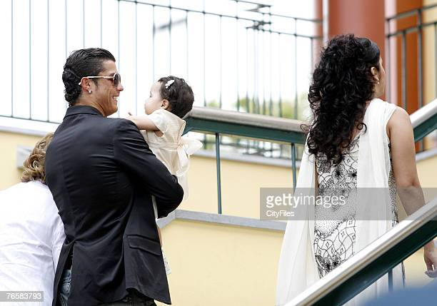 Cristiano Ronaldo attends his goddaughter christening at Funchal Madeira island Portugal on June 11 2007