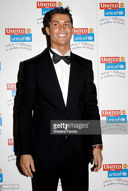 Cristiano Ronaldo attends the Manchester United `United for UNICEF' Gala Dinner at Manchester United Museum on November 9 2008 in Manchester England