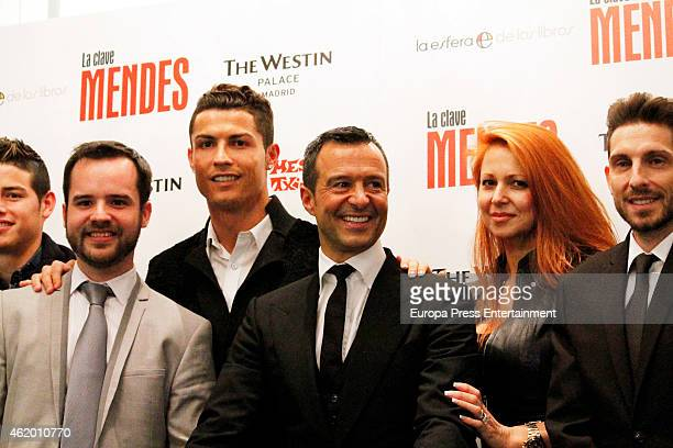 Cristiano Ronaldo attends the presentation of the book 'The Key to Mendes' by sport agent Jorge Mendes at Palace Hotel on January 22 2015 in Madrid...