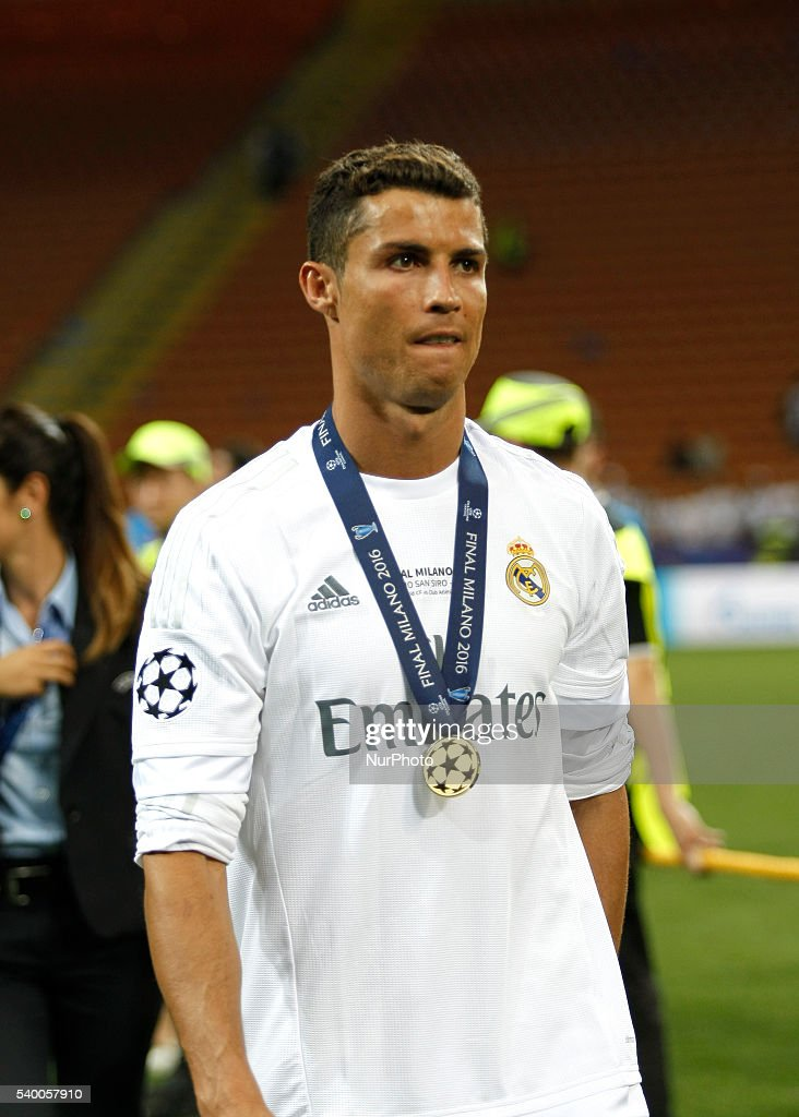 Soccer players ronaldo celebration