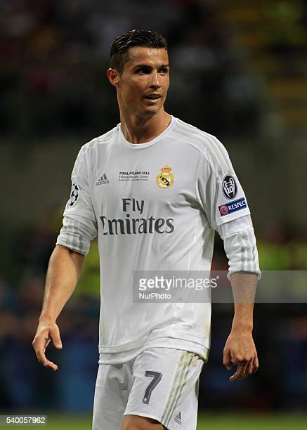 Cristiano Ronaldo during the Champions League final between Real Madrid CF and Club Atletico de Madrid at the Giuseppe Meazza Stafium of Milan on may...