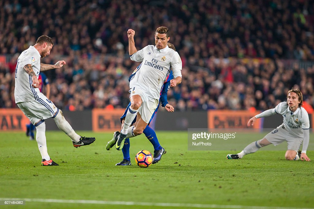 Cristiano Ronaldo during the match between FC Barcelona vs Real Madrid for the round 14 of the Liga Santander played at Camp Nou Stadium on 3th...