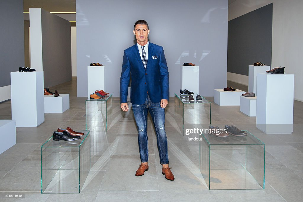 <a gi-track='captionPersonalityLinkClicked' href=/galleries/search?phrase=Cristiano+Ronaldo&family=editorial&specificpeople=162689 ng-click='$event.stopPropagation()'>Cristiano Ronaldo</a> globally launches the FW15 collection of his CR7 Footwear range with a presentation of specially selected styles on October 5, 2015 in Guimaraes, Portugal.