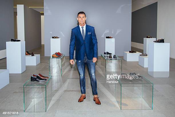 Cristiano Ronaldo globally launches the FW15 collection of his CR7 Footwear range with a presentation of specially selected styles on October 5 2015...
