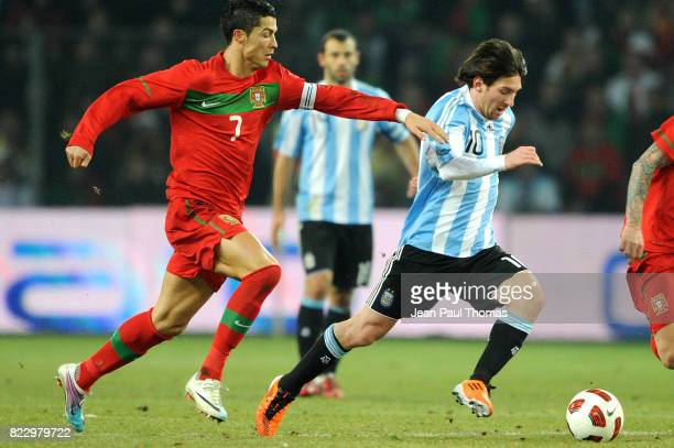 Cristiano RONALDO / Lionel MESSI Argentine / Portugal Match amical Geneve