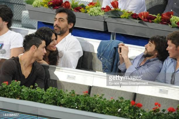 Cristiano Ronaldo Nuria Roca Juan del Val and Fernando Tejero attend the Mutua Madrilena Madrid Open on May 11 2012 in Madrid Spain