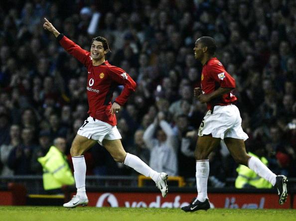 Cristiano Ronaldo Celebrates 2nd Goal : News Photo