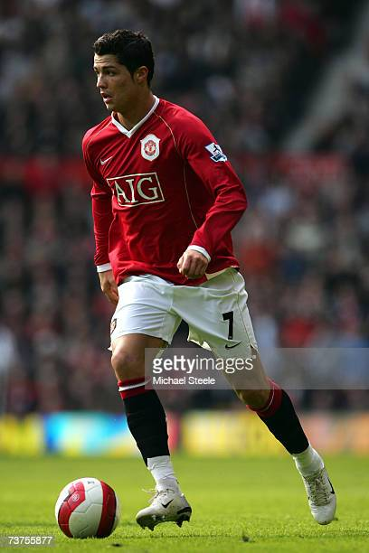 Cristiano Ronaldo of Manchester United during the Barclays Premiership match between Manchester United and Blackburn Rovers at Old Trafford on March...