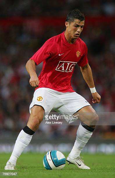 Cristiano Ronaldo of Manchester United during the preseason friendly match between Manchester United and Inter Milan at Old Trafford on August 1 2007...