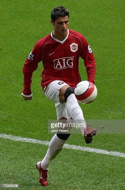 Cristiano Ronaldo of Manchester United in action during the Barclays Premiership match between Manchester United and Newcastle United at Old Trafford...