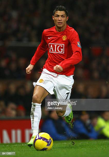 Cristiano Ronaldo of Manchester United in action during the Barclays Premier League match between Manchester United and Middlesbrough at Old Trafford...