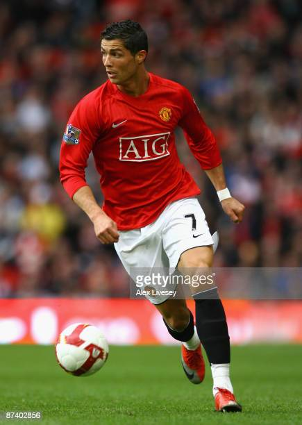 Cristiano Ronaldo of Manchester United in action during the Barclays Premier League match between Manchester United and Arsenal at Old Trafford on...