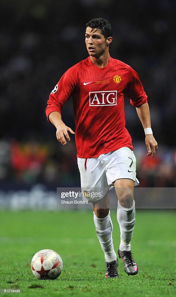 Cristiano Ronaldo of Manchester United in action during the UEFA Champions League Final match between Manchester United and Chelsea at the Luzhniki Stadium on May 21, 2008 in Moscow, Russia.