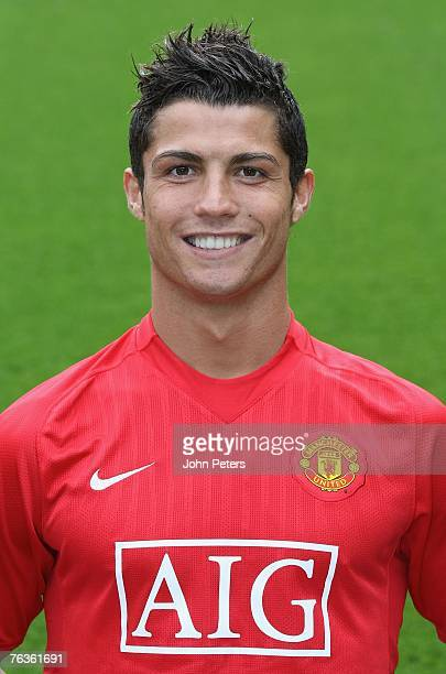 Cristiano Ronaldo of Manchester United poses during the club's official annual photocall at Old Trafford on August 28 2007 in Manchester England