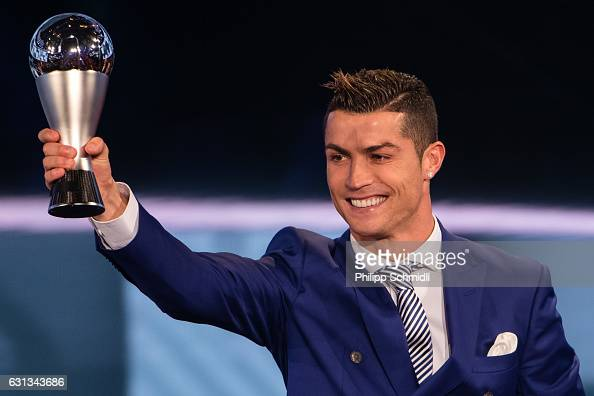 Cristiano Ronaldo of Portugal and Real Madrid receives The Best FIFA Men's Player Award during The Best FIFA Football Awards 2016 on January 9 2017...