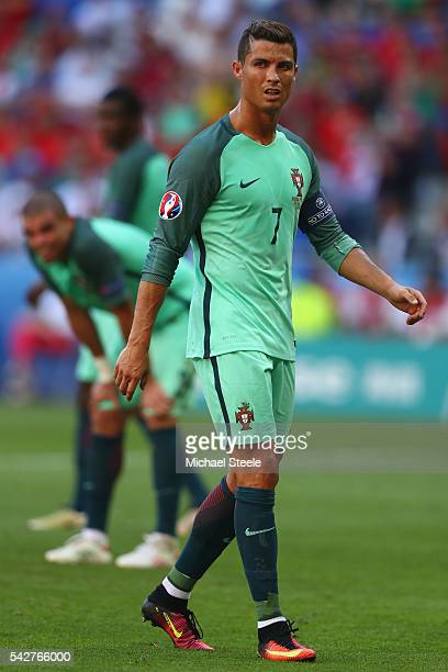 Cristiano Ronaldo of Portugal during the UEFA EURO 2016 Group F match between Hungary and Portugal at Stade des Lumieres on June 22 2016 in Lyon...