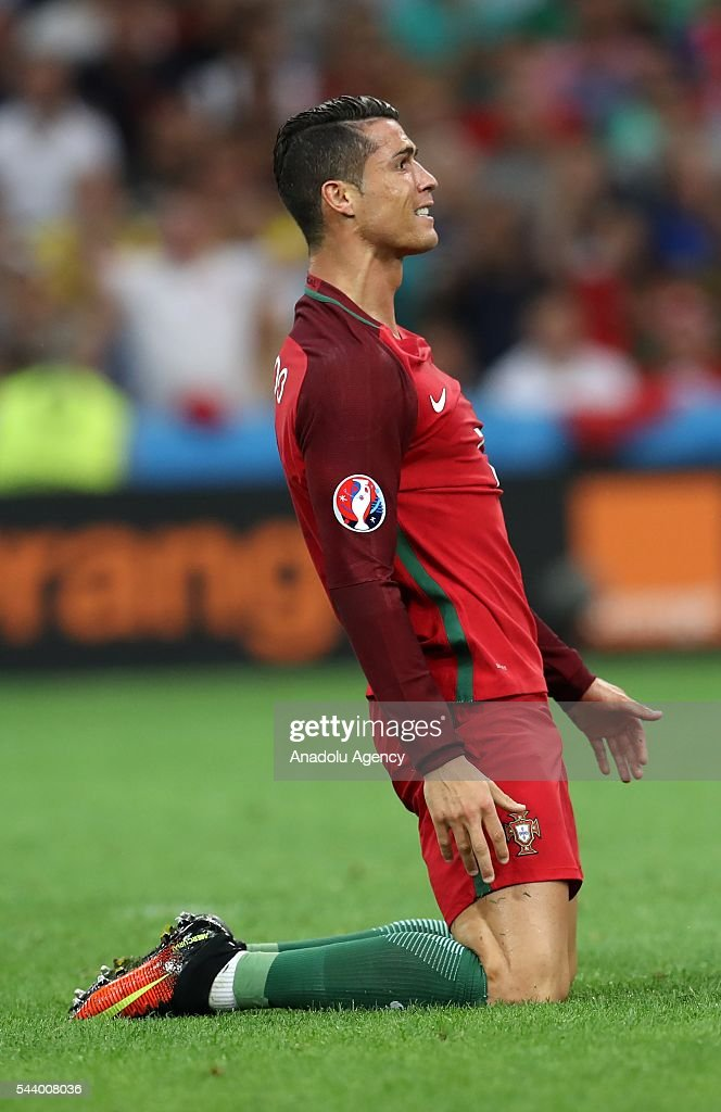 Cristiano Ronaldo of Portugal in action during the Euro 2016 quarter-final football match between Poland and Portugal at the Stade Velodrome in Marseille, France on June 30, 2016.