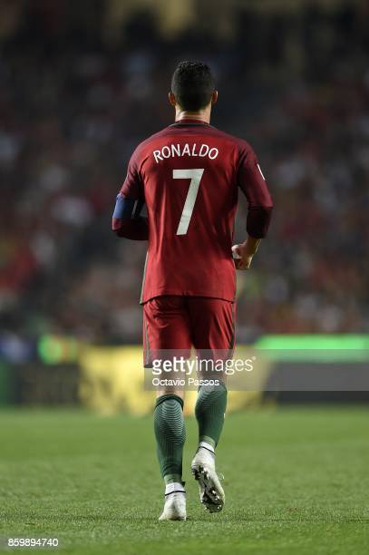 Cristiano Ronaldo of Portugal in action during the FIFA 2018 World Cup Qualifier between Portugal and Switzerland at the Luz Stadium on October 10...