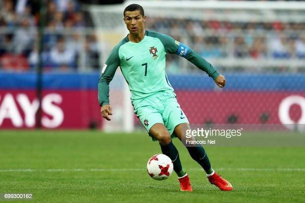 Cristiano Ronaldo of Portugal in action during the FIFA Confederations Cup Russia 2017 Group A match between Russia and Portugal at Spartak Stadium...