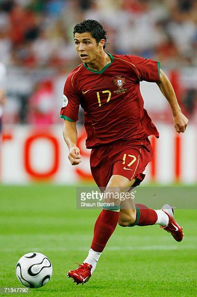 Cristiano Ronaldo of Portugal in action during the FIFA World Cup Germany 2006 Quarterfinal match between England and Portugal played at the Stadium...
