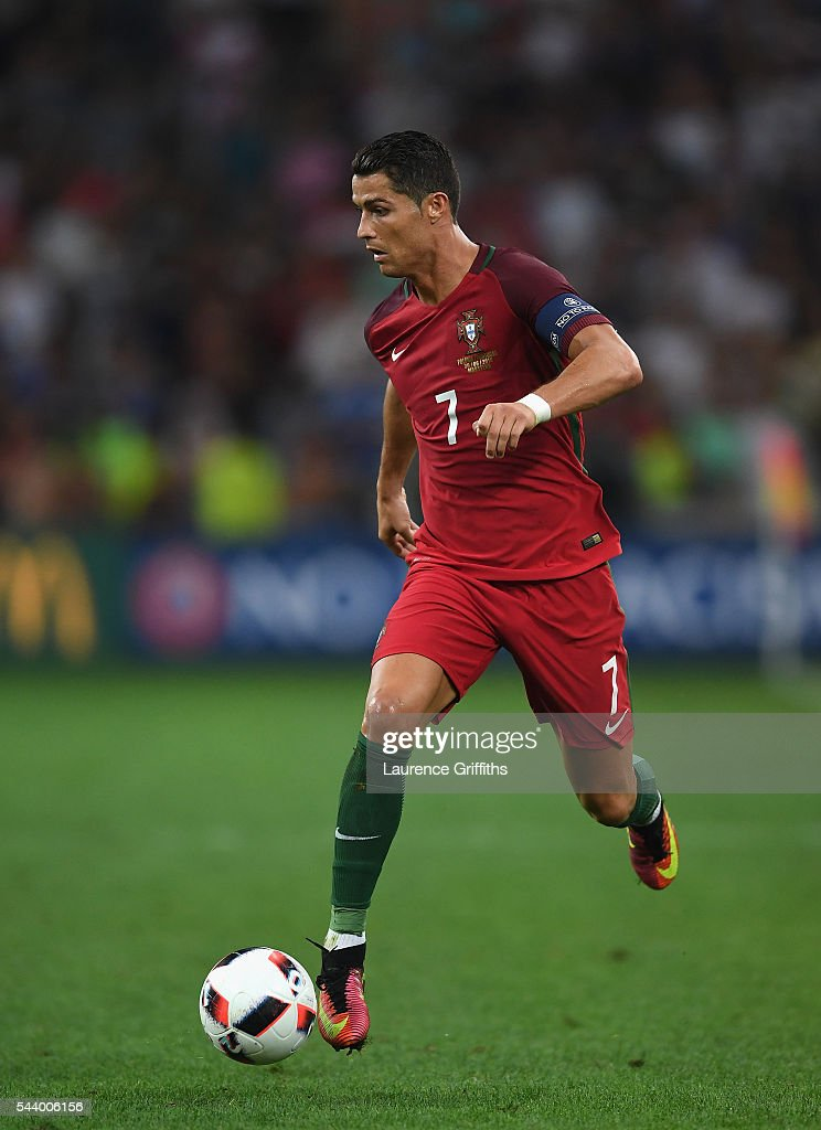 <a gi-track='captionPersonalityLinkClicked' href=/galleries/search?phrase=Cristiano+Ronaldo+-+Soccer+Player&family=editorial&specificpeople=162689 ng-click='$event.stopPropagation()'>Cristiano Ronaldo</a> of Portugal in action during the UEFA EURO 2016 quarter final match between Poland and Portugal at Stade Velodrome on June 30, 2016 in Marseille, France.