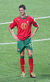 Cristiano Ronaldo of Portugal in tears after the UEFA Euro 2004 Final match between Portugal and Greece at the Luz Stadium on July 4 2004 in Lisbon...