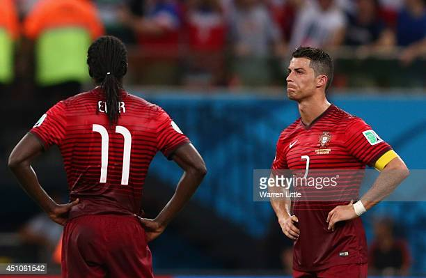 Cristiano Ronaldo of Portugal looks dejected after the United States scored the second goal during the 2014 FIFA World Cup Brazil Group G match...