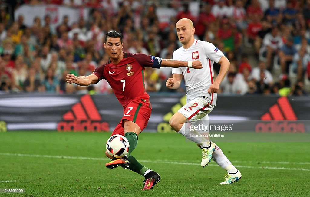 <a gi-track='captionPersonalityLinkClicked' href=/galleries/search?phrase=Cristiano+Ronaldo+-+Soccer+Player&family=editorial&specificpeople=162689 ng-click='$event.stopPropagation()'>Cristiano Ronaldo</a> of Portugal misses a chance during the UEFA EURO 2016 quarter final match between Poland and Portugal at Stade Velodrome on June 30, 2016 in Marseille, France.