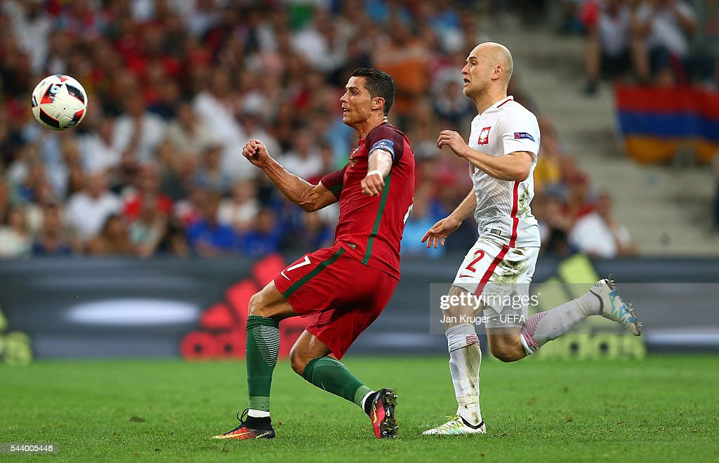 <a gi-track='captionPersonalityLinkClicked' href=/galleries/search?phrase=Cristiano+Ronaldo+-+Soccer+Player&family=editorial&specificpeople=162689 ng-click='$event.stopPropagation()'>Cristiano Ronaldo</a> of Portugal misses a shot at goal during the UEFA Euro 2016 quarter final match between Poland and Portugal at Stade Velodrome on June 30, 2016 in Marseille, France.
