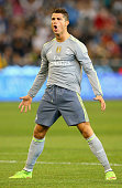 Cristiano Ronaldo of Real Madrid celebrates after scoring a goal during the International Champions Cup match between Real Madrid and Manchester City...
