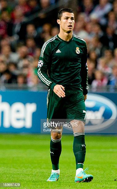 Cristiano Ronaldo of Real Madrid CF in action during the UEFA Champions League group stage match between AFC Ajax and Real Madrid CF at the Amsterdam...