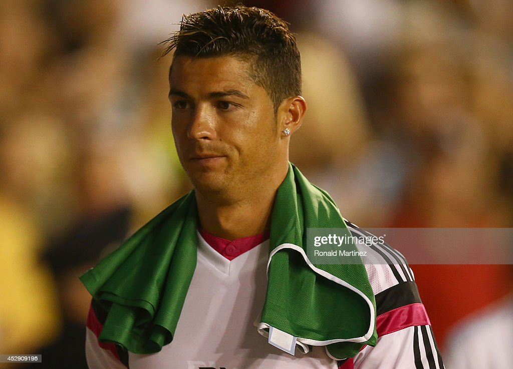 Cristiano Ronaldo of Real Madrid during a Guinness International Champions Cup 2014 game at Cotton Bowl on July 29, 2014 in Dallas, Texas.