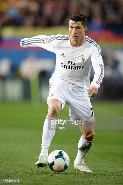 Cristiano Ronaldo of Real Madrid during the Spanish Primera División match between Atletico Madrid and Real Madrid at Estadio Vicente Calderón on...