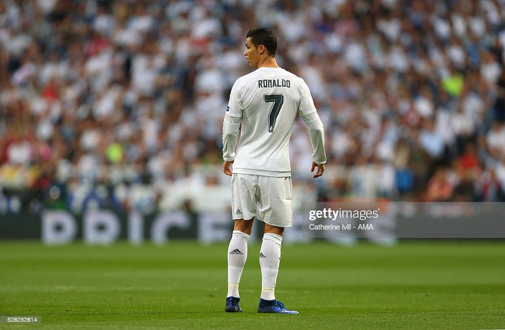 Cristiano Ronaldo of Real Madrid during the UEFA Champions League Semi Final second leg match between Real Madrid and Manchester City FC at Estadio Santiago Bernabeu on May 4, 2016 in Madrid, Spain.