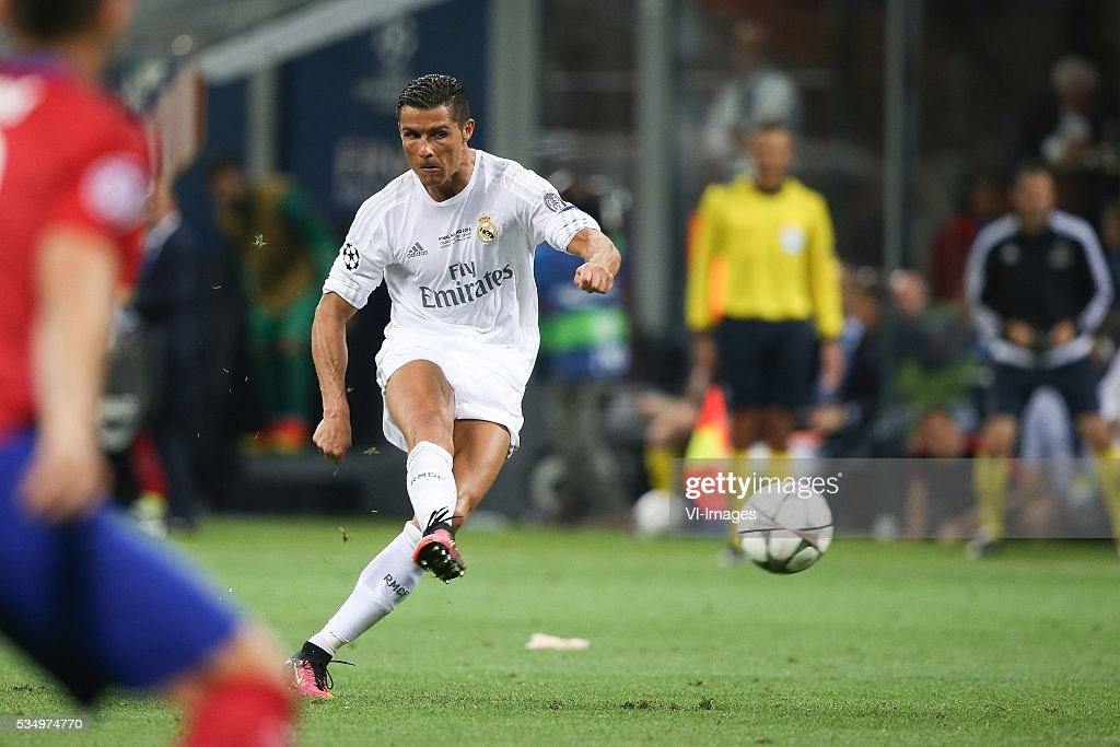 Cristiano Ronaldo of Real Madrid during the UEFA Champions League final match between Real Madrid and Atletico Madrid on May 28, 2016 at the Giuseppe Meazza San Siro stadium in Milan, Italy.
