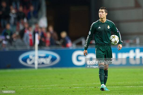 Cristiano Ronaldo of Real Madrid during theUEFA Champions League match between Ajax and Real Madrid at the Amsterdam Arena on October 3 2012 in...