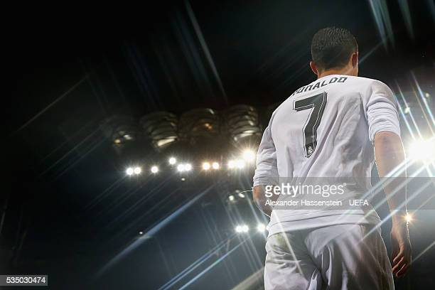 Cristiano Ronaldo of Real Madrid enters the field for the UEFA Champions League Final match between Real Madrid and Club Atletico de Madrid at Stadio...