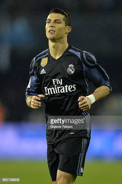 Cristiano Ronaldo of Real Madrid in action during the Copa del Rey quarterfinal second leg match between Real Club Celta de Vigo and Real Madrid Club...