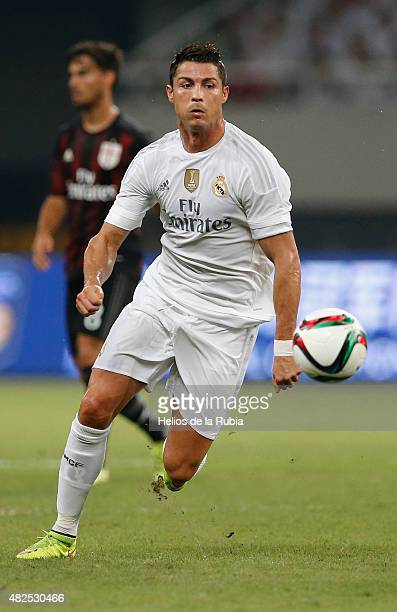 Cristiano Ronaldo of Real Madrid in action during the International Champions Cup China match between Real Madrid and AC Milan at the Shanghai...