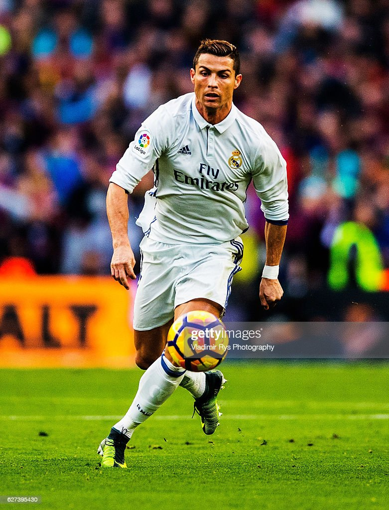 Cristiano Ronaldo of Real Madrid in action during the La Liga match between FC Barcelona and Real Madrid CF at Camp Nou stadium on December 03 2016...