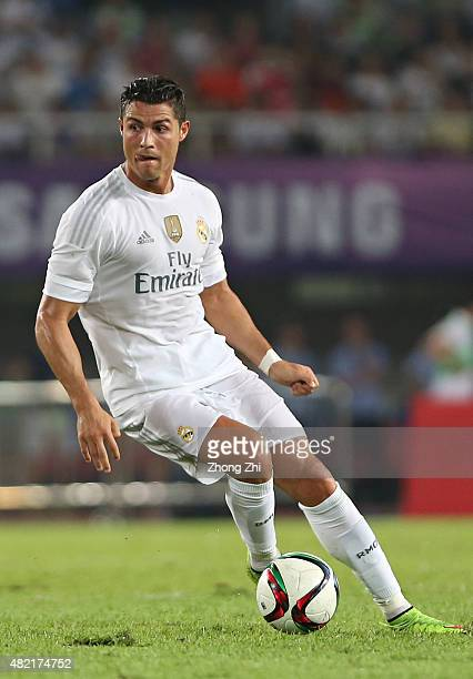 Cristiano Ronaldo of Real Madrid in action during the match of International Champions Cup China 2015 between Real Madrid and FC Internazionale at...