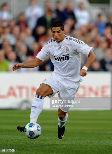 Cristiano Ronaldo of Real Madrid in action during the Pre Season Friendly between Shamrock Rovers and Real Madrid at Tallaght Stadium on July 20 2009...