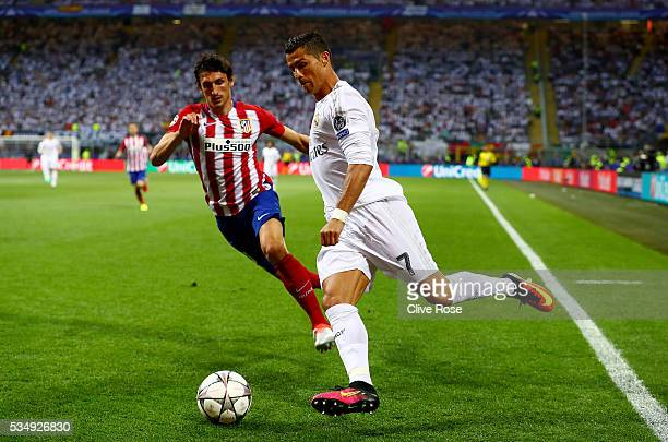 Cristiano Ronaldo of Real Madrid in action during the UEFA Champions League Final match between Real Madrid and Club Atletico de Madrid at Stadio...
