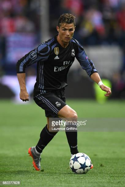Cristiano Ronaldo of Real Madrid in action during the UEFA Champions League Semi Final second leg match between Club Atletico de Madrid and Real...