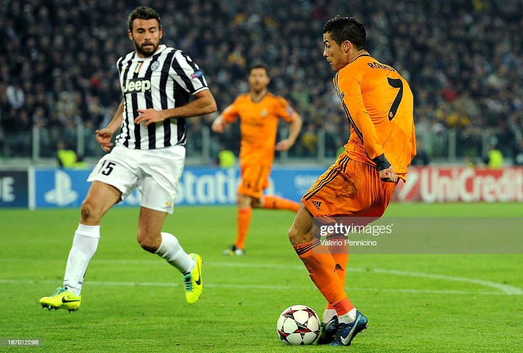 <a gi-track='captionPersonalityLinkClicked' href=/galleries/search?phrase=Cristiano+Ronaldo+-+Soccer+Player&family=editorial&specificpeople=162689 ng-click='$event.stopPropagation()'>Cristiano Ronaldo</a> of Real Madrid scores a goal during the UEFA Champions League Group B match between Juventus and Real Madrid at Juventus Arena on November 5, 2013 in Turin, Italy.