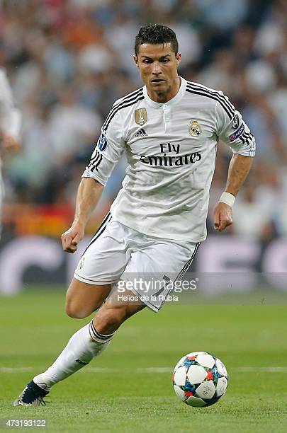 Cristiano Ronaldo of Real Madrid un action during the UEFA Champions League semi final second leg match between Real Madrid CF and Juventus at...