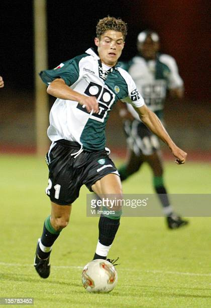 Cristiano Ronaldo of Sporting Lisbon in action on July 10 2002 in Lisbon Portugal