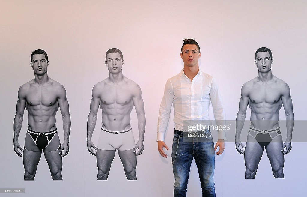 <a gi-track='captionPersonalityLinkClicked' href=/galleries/search?phrase=Cristiano+Ronaldo+-+Soccer+Player&family=editorial&specificpeople=162689 ng-click='$event.stopPropagation()'>Cristiano Ronaldo</a> officially launches his CR7 by <a gi-track='captionPersonalityLinkClicked' href=/galleries/search?phrase=Cristiano+Ronaldo+-+Soccer+Player&family=editorial&specificpeople=162689 ng-click='$event.stopPropagation()'>Cristiano Ronaldo</a> underwear line with a private event in Madrid on October 31, 2013 in Madrid, Spain.