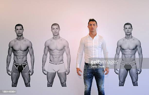 Cristiano Ronaldo officially launches his CR7 by Cristiano Ronaldo underwear line with a private event in Madrid on October 31 2013 in Madrid Spain